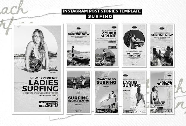 Surfer des histoires instagram