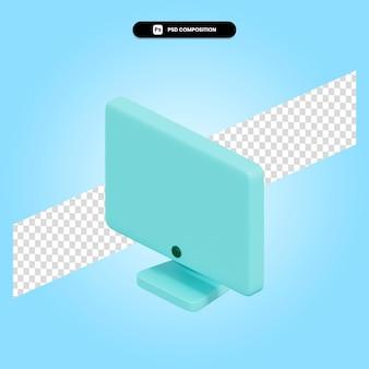 Surveiller l'illustration de rendu 3d isolée