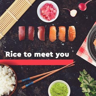 Sushi bar, modèle de publication pour les médias sociaux au restaurant