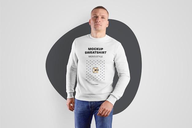 Sweat-shirt pour hommes mockups