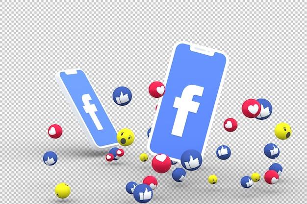 Symbole facebook sur smartphone à écran