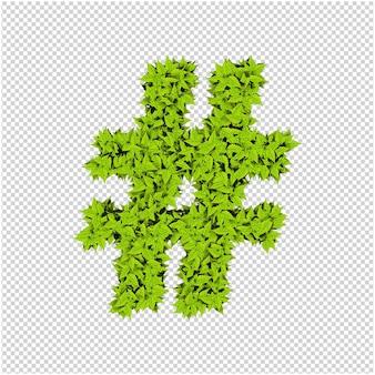 Symbole fait de feuilles vertes