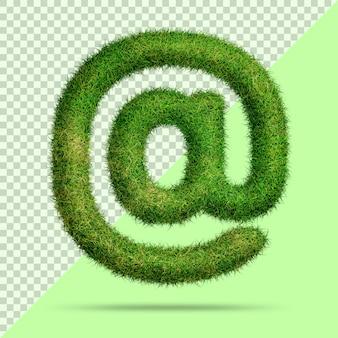Symbole avec de l'herbe 3d réaliste