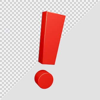 Symbole de point d'exclamation dans le rendu 3d
