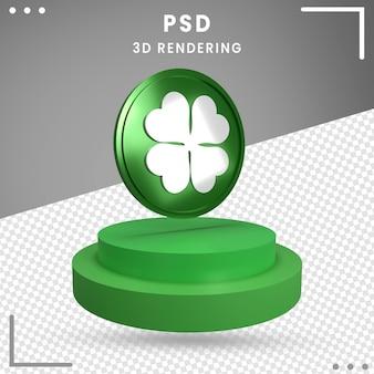 Symbole de rotation 3d de la saint-patrick