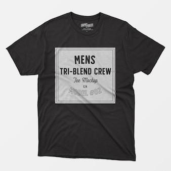 T-shirt d'équipage tri-mélange homme