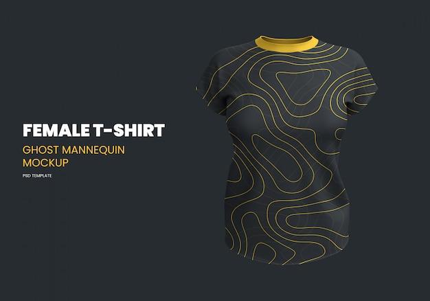 T-shirt femme maquette de mannequin fantôme
