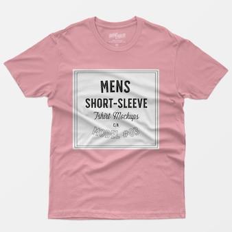 T-shirt à manches courtes pour hommes maquettes 03