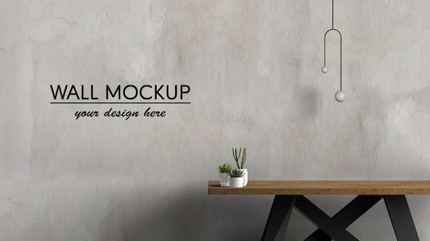 Table en bois design d'intérieur