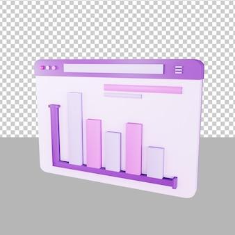 Tableau de bord données 3d illustration entreprise