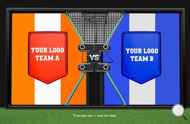 Tableau de bord de rendu 3d pour la compétition par équipe