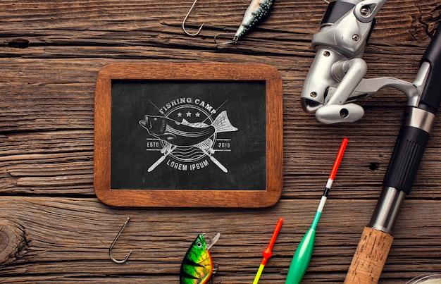 Tableau de dessus accessoires de pêche