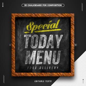 Tableau du menu du jour à éditer