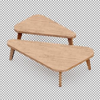 Tables isométriques en bois