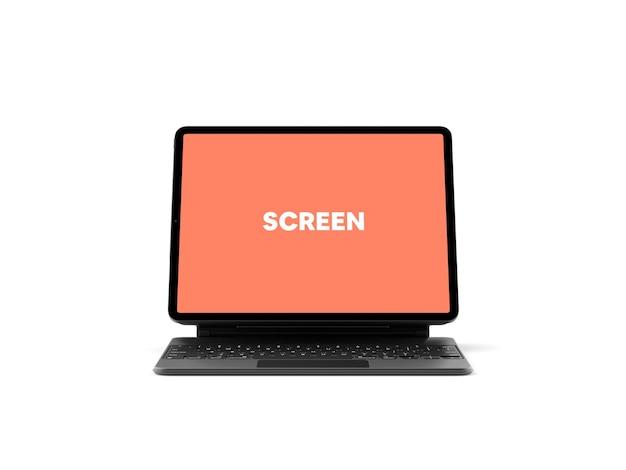 Tablette avec maquette de clavier