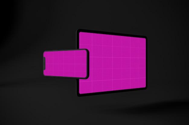 Tablette et maquette mobile