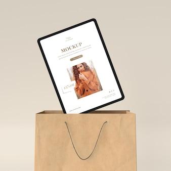 Tablette shopping et sac