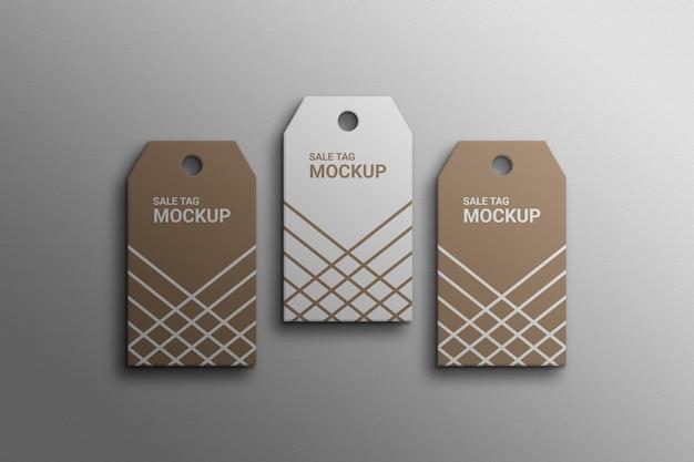 Tag étiquette volante étiquette de produit maquette photoshop