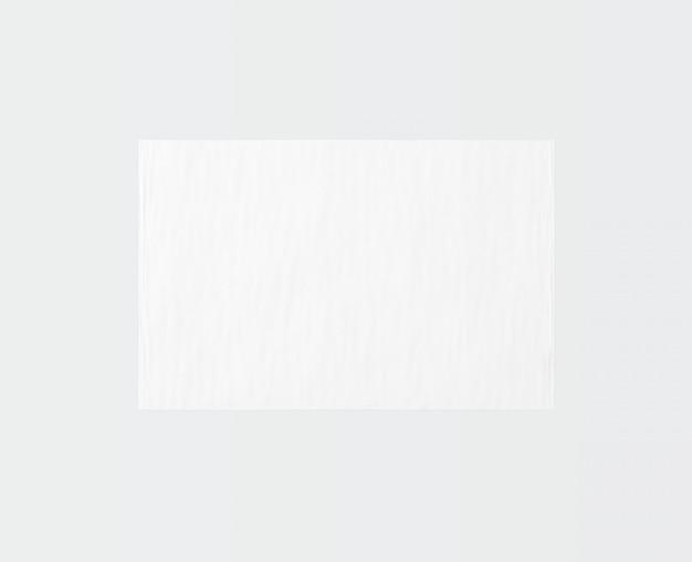 Tapis de forme rectangle blanc isolé