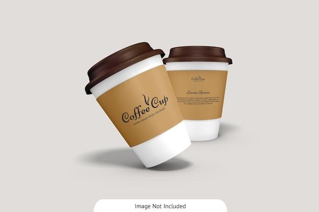 Tasse à café avec maquette en carton