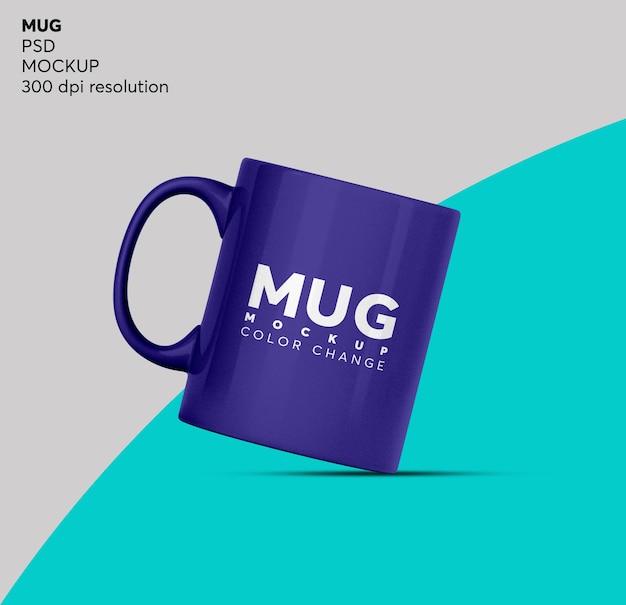 Tasse à café ou maquette de tasse de thé isolée