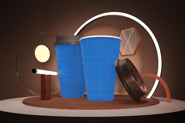 Tasse à Café Néon PSD Premium