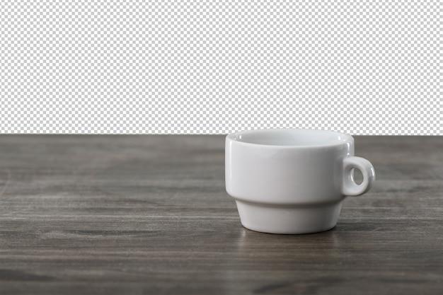 Tasse à café sur une surface en bois