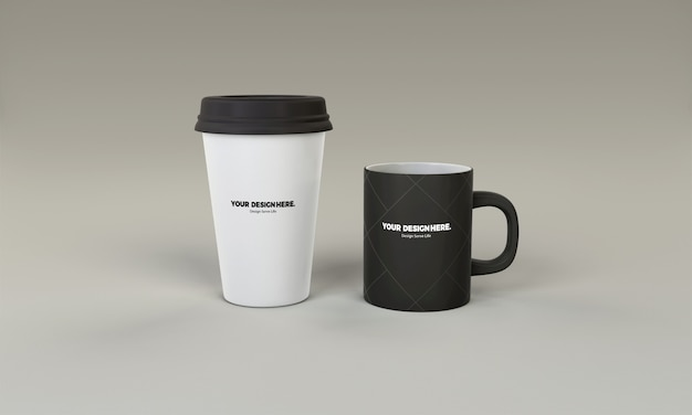 Tasse à café tasse maquette