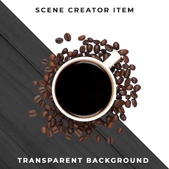 Tasse à café transparente psd
