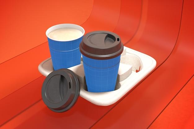 Tasse à café sur verre