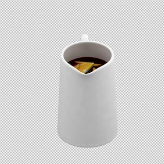 Tasse isométrique 3d rendu