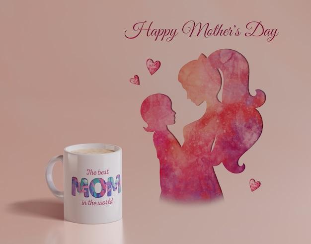 Tasse de jour de mères close-up