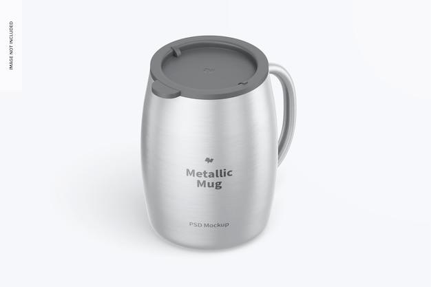 Tasse métallique avec maquette de couvercle