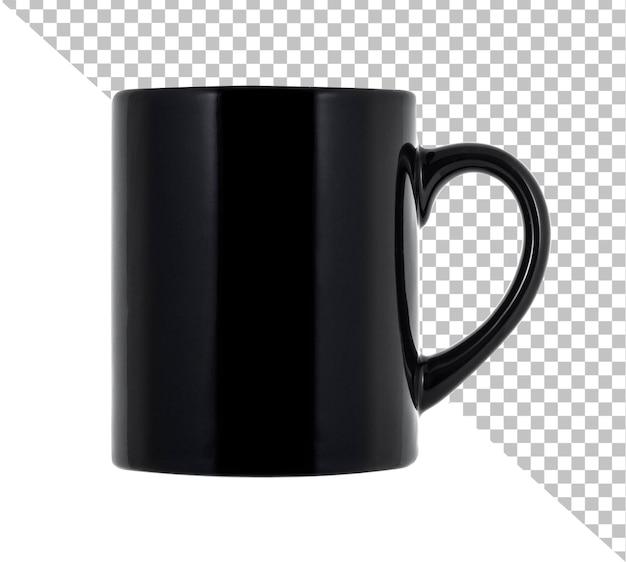 Tasse noire pour le café ou le thé d'isolement