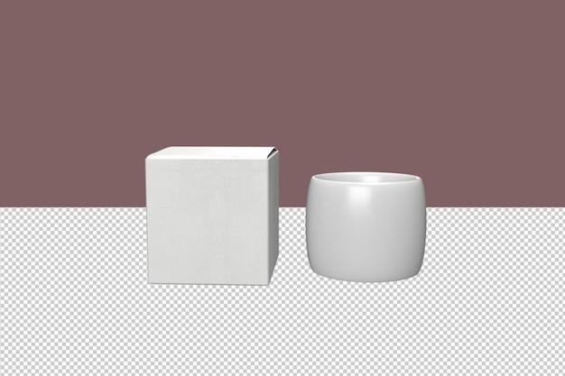 Tasses à café minimales avec boîte
