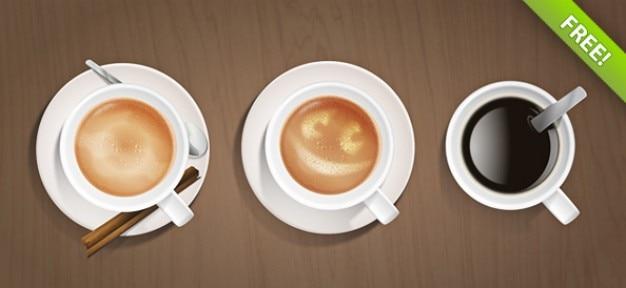 Tasses à café psd graphique