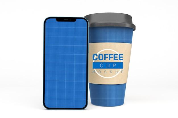 Tasses à café et téléphone intelligent