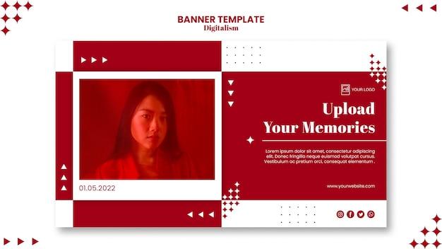 Téléchargez votre modèle de bannière de souvenirs