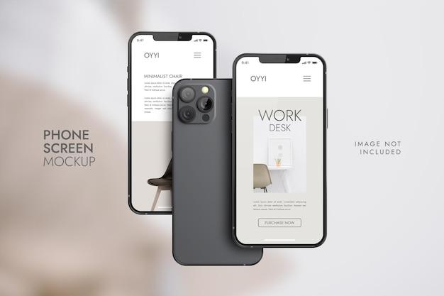 Téléphone et écran - maquette de présentation de l'application ui ux