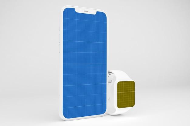 Téléphone intelligent d'argile et montre intelligente