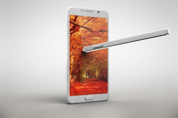 Téléphone portable maquette conception