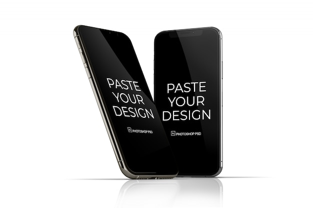 Téléphone portable avec maquette d'écran tactile