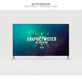 Télévision 4k maquette