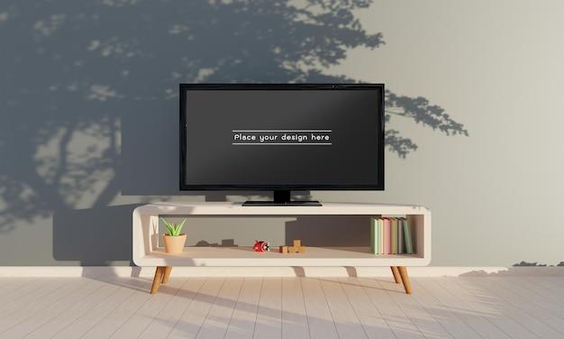 Télévision dans la maquette du salon.