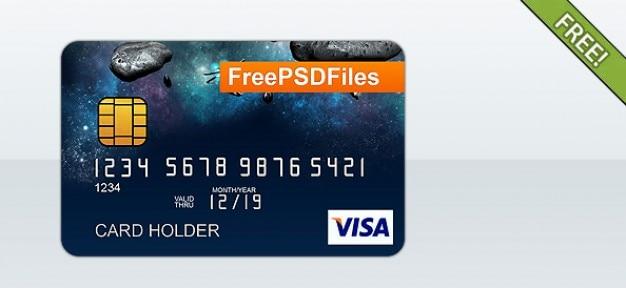 Template gratuit psd carte de crédit