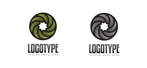 Template vecteur tourbillon logo