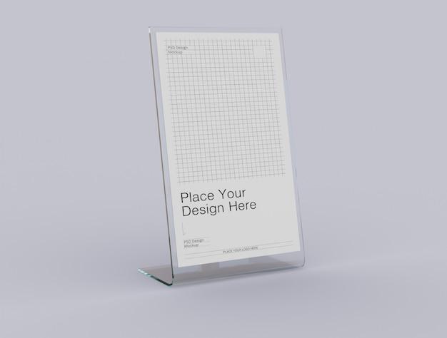 Tente de table en acrylique avec maquette de porte-cartes