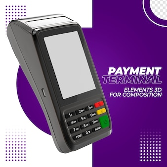 Terminal de paiement avec carte de crédit 3d