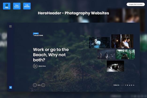 En-tête de héros pour les sites web de photographie-02