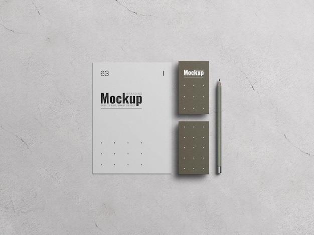 En-tête avec maquette de carte de visite